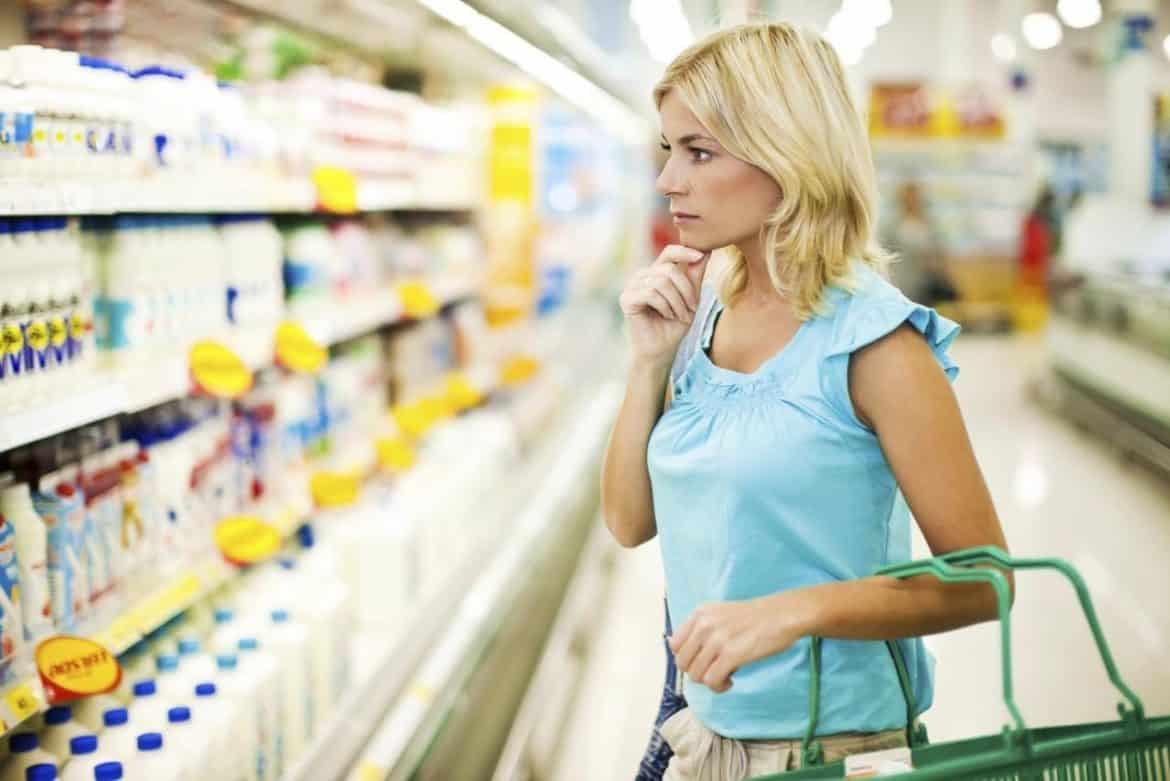 Image result for woman thinking at store