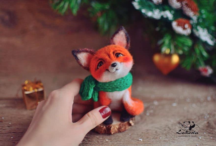 20 Cutest Felted Toys Ever By LaKosta 59b2b3a8e4a14 880 - Cute Banget, Kamu Pasti Gak Nyangka Kalau 18 Miniatur Hewan Ini Dibuat dari Kain Wol