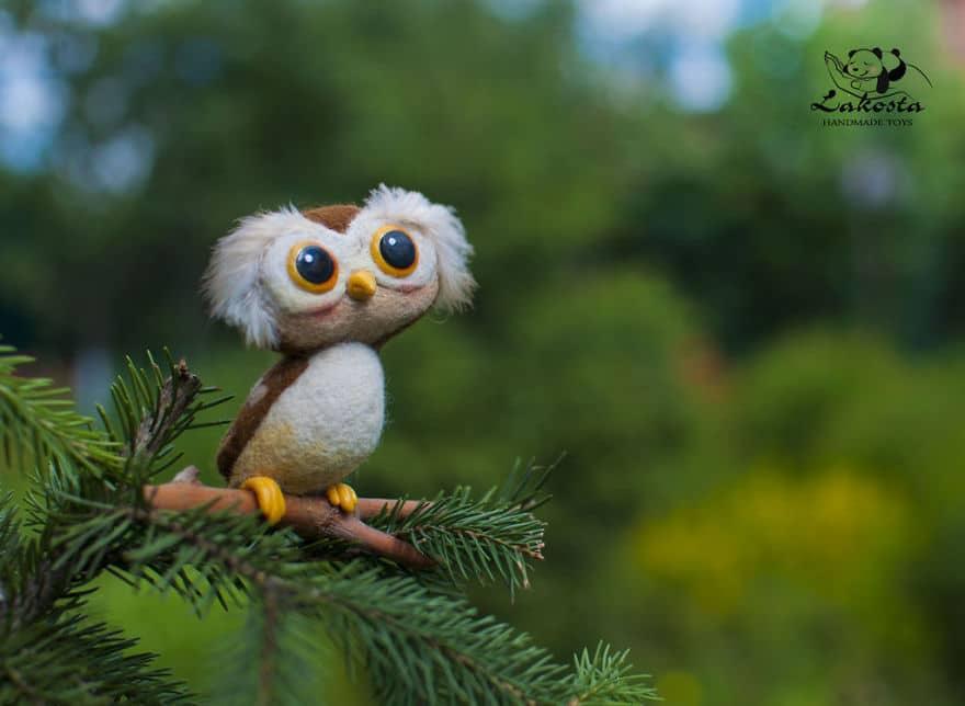 20 Cutest Felted Toys Ever By LaKosta 59b2b3b382694 880 - Cute Banget, Kamu Pasti Gak Nyangka Kalau 18 Miniatur Hewan Ini Dibuat dari Kain Wol