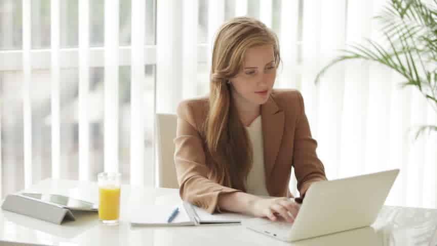 Image result for woman front of computer