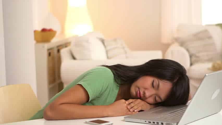 Image result for woman sleep front laptop