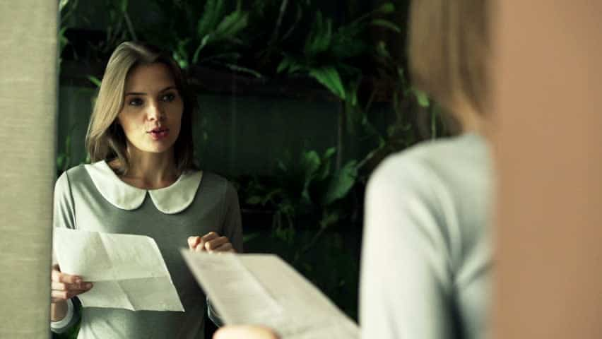 Image result for woman speech front of mirror