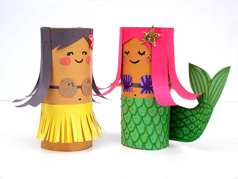 TP Roll dolls craft kids - Ubah Barang Bekas Jadi 4 Kerajinan Unik yang Super Cute Ini