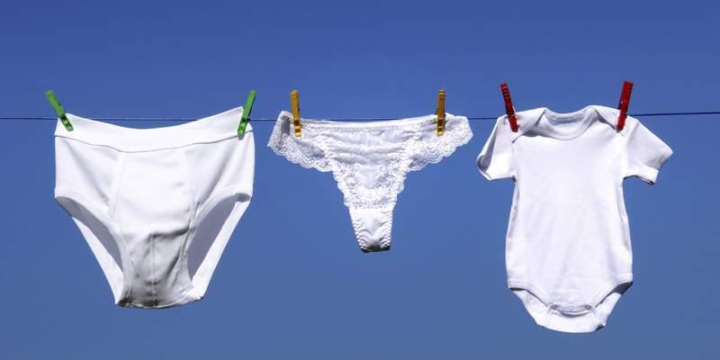 Underwear on a Clothes Line - Setelah Baca 5 Alasan Ini, Kamu Gak akan Lagi Mau Mencuci Pakaian Dalam Bareng Pakaian Lainnya