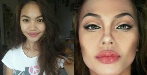gallery-1463592950-hotspot-celebrity-transformations-008 Wow, Cewek Ini Menjelma Jadi 5 Selebriti Hollywood Hanya dengan Menggunakan Makeup