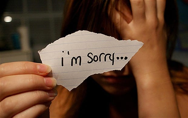 Image result for woman say sorry