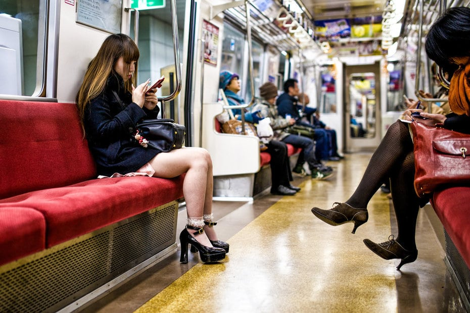 Image result for japanese phone in train