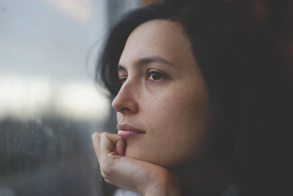 Woman, Thoughtful, Pensive, Young, Face, Caucasian