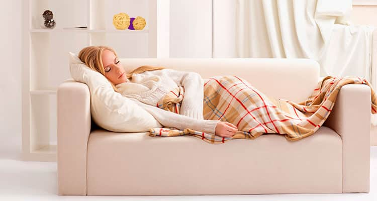 Image result for woman sleep on sofa
