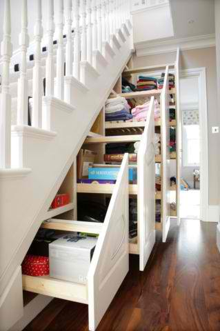 Under Stair Pullout Shelves