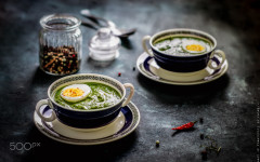 148247239 creamy and spicy spinach soup with egg 240x150 - 8 Resep Portable Lunch Untuk Makan Siang Yang Instagramable